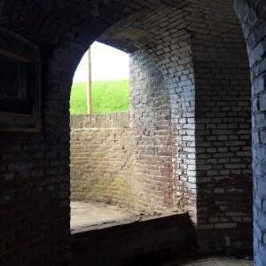 Toegang tot het dak van het fort
